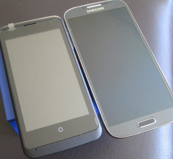 Size comparison: Open C vs Galaxy S4