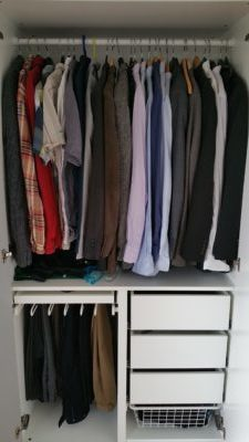 A silly picture of my wardrobe.