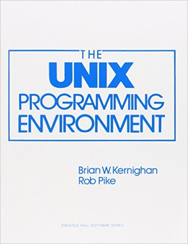 Book Cover of The UNIX Programming Environment