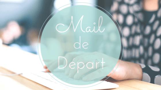 Mail de depart
