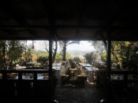View of the patio and Kampala below