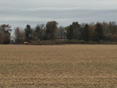 We can actually see the house from the south side of the road now!