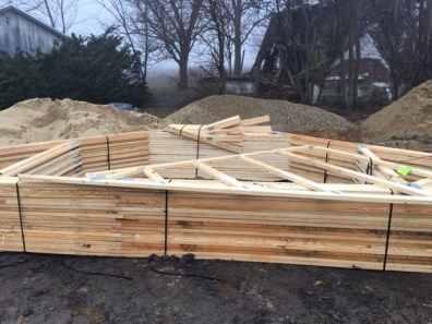These are the trusses, which will be going up this week.