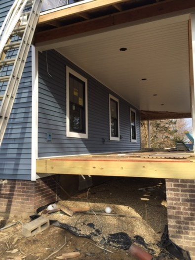 South side of the house -siding & soffit!