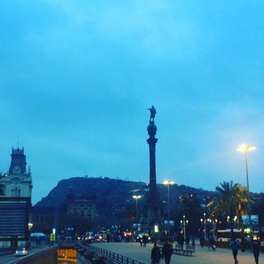 Barcelona at twilight