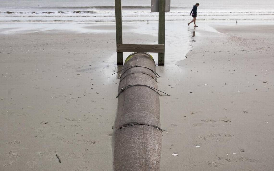 Margate Outfall Pipe on Beach