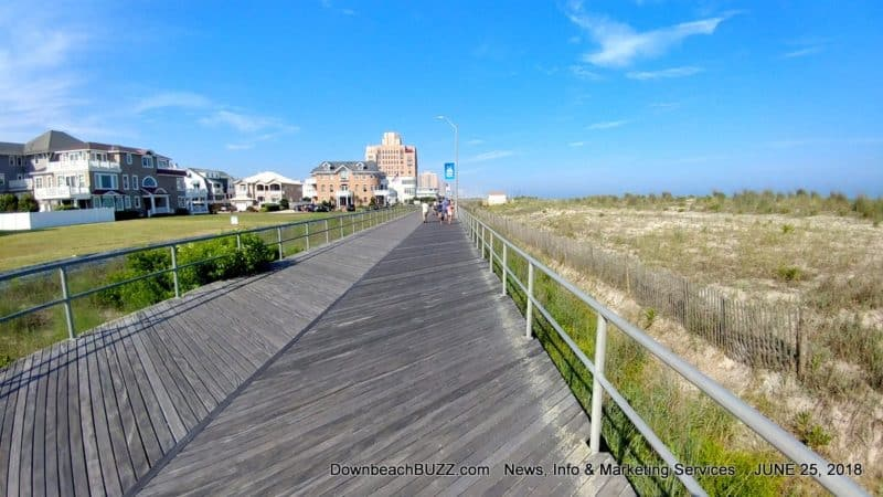 Overgrown, Non-Compliant Dunes Along Ventnor Boardwalk