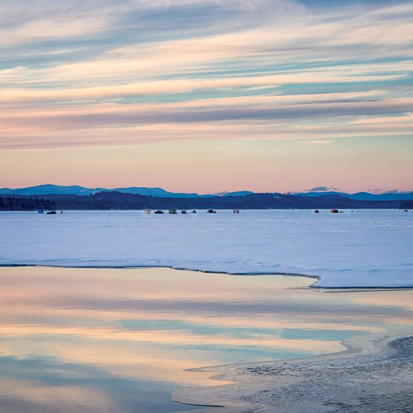 ice out on a Maine lake