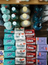 soaps and bath products for sale at big al's
