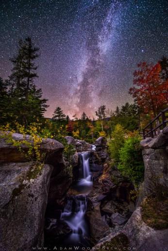Milky Way Over Screw Auger Falls