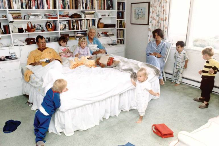 Barbara Bush and family