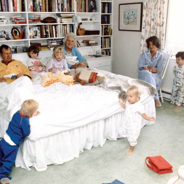 Barbara Bush and family