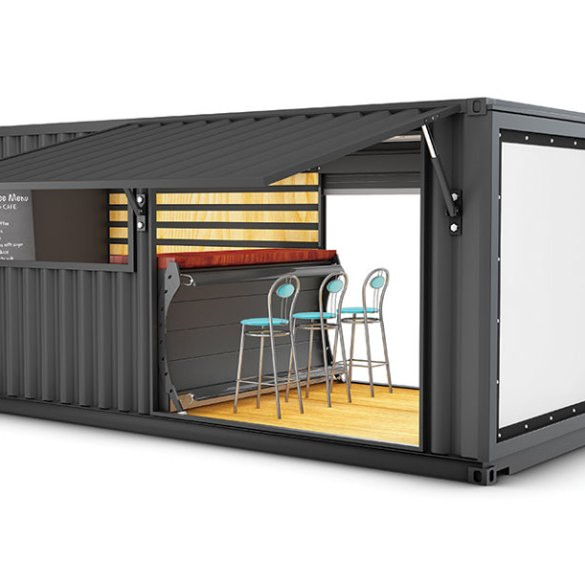 Black Box retrofitted shipping container