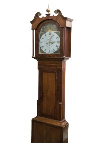 A grandfather clock at Cabot Mill Antiques.