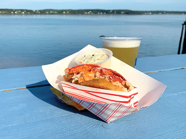 A lobster roll with a view at Quoddy Bay Lobster