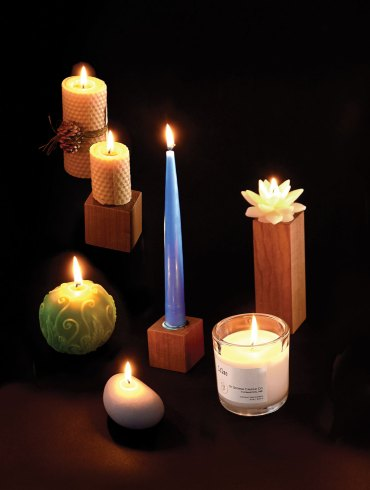five maine-made candles