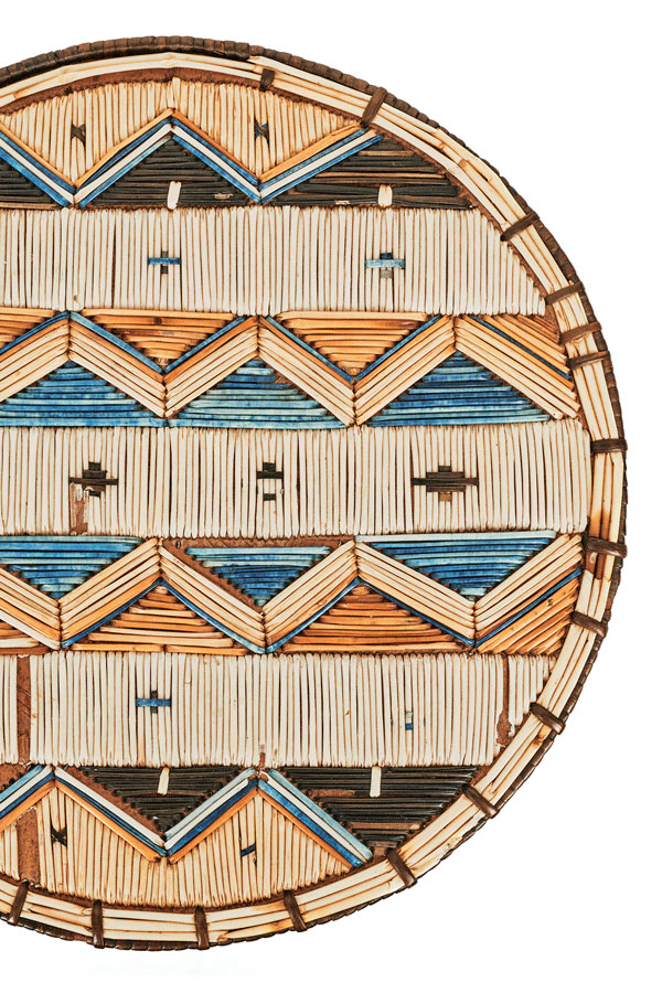 round box lid with classic chevron pattern; Micmac quillwork