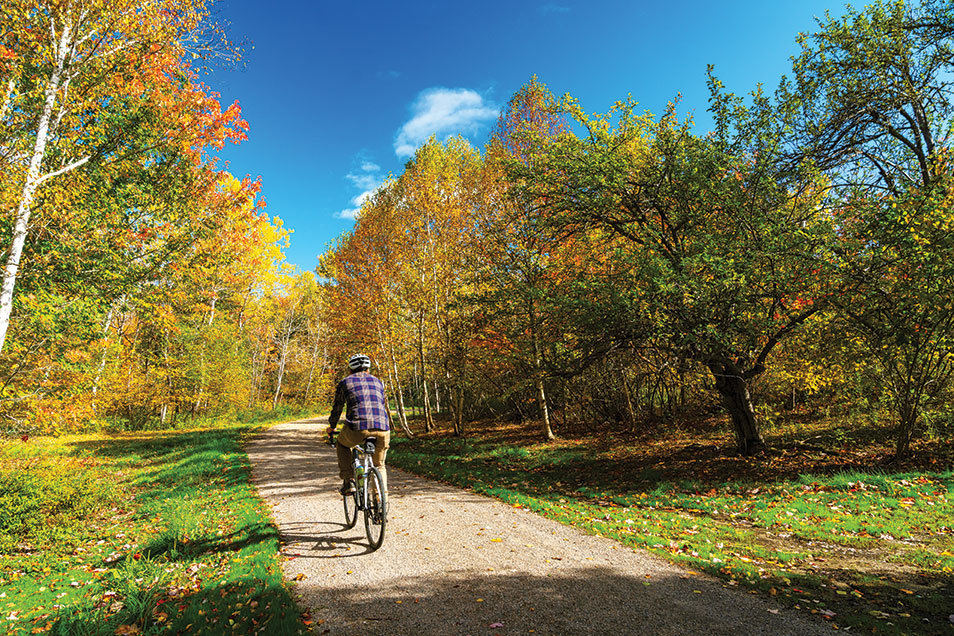 The crushed-stone paths at Cobscook Shores and Penobscot River Trails are reminiscent of Acadia's carriage roads.