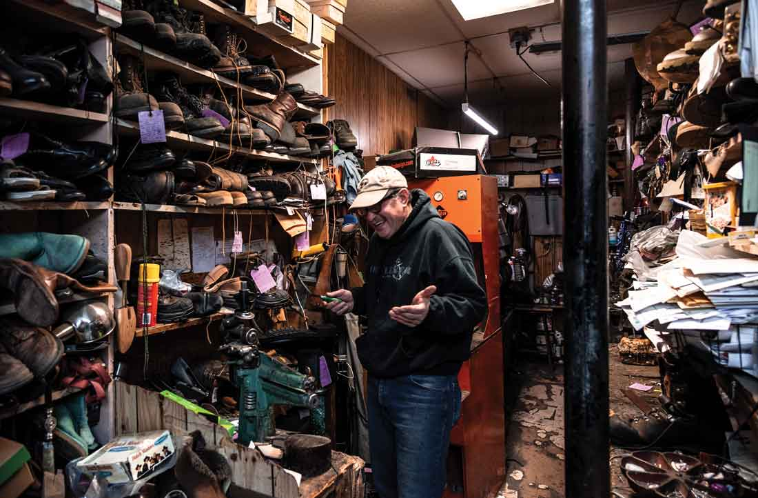 Dick LaCasse took over LaCasse Shoe Repair from his father, who started the business in the 1940s, in a shop across the street from the current location.