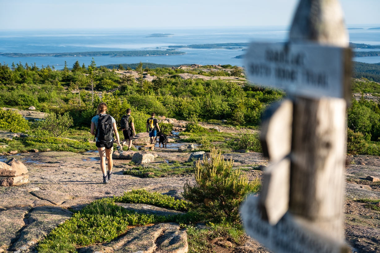 The top of Acadia's Cadillac Mountain