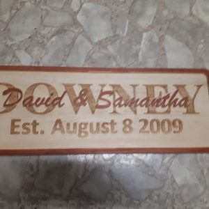 Personalized Stacked Text Sign