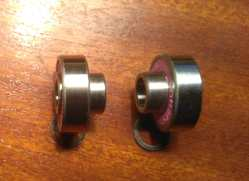 Built in skateboard bearings