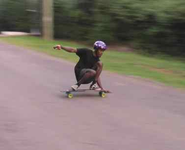 sliding early safe downhill skating