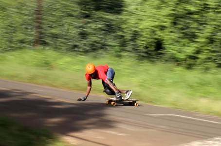 toeside slide downhill skateboarding