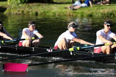 W1 were delighted that Holly (centre) would be joining us in the 5 seat for May Bumps 2015 © Christopher Down