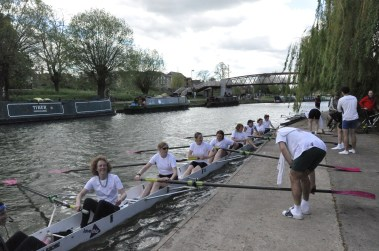 DCBC Women from the 1980s rowing at Segs Day 2015