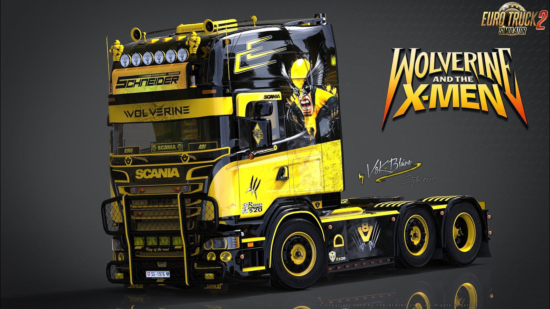 V8K R520 Wolverine Scania Amp Wolverine Trailer Skin V10 127x ETS2 Mods SCS Mods Euro