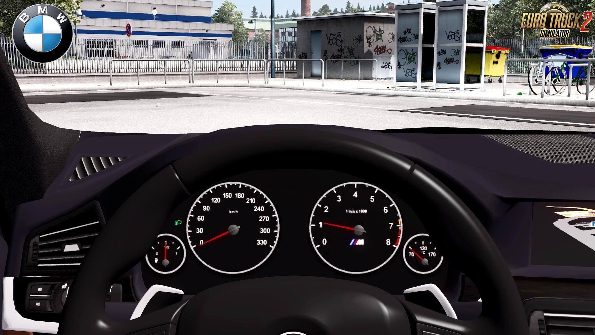 BMW M5 F10 Interior V30 Upgraded 128x ETS2 Mods