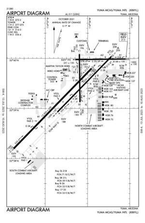 Yuma McAsYuma International AirportKNYLAOPA Airports