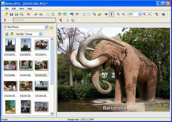Better JPEG photo editor - Photo Manipulation Software for PC
