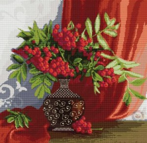 Cross stitch pattern FREE download as PDF file with flowers bouquet