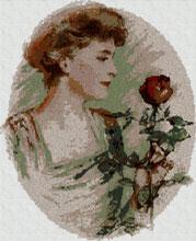 Cross stitch pattern free download as pdf file with lady