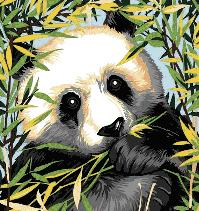 Cross-stitch pattern FREE download as PDF file with Panda bear