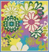 Cross-stitch pattern FREE download as PDF file with flowers