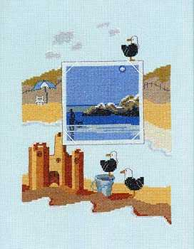 Cross-stitch pattern FREE download as PDF file with seascape