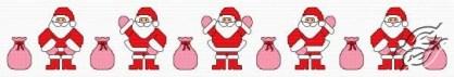 Cross stitch pattern FREE download in PDF file with Santa dancing la macarena
