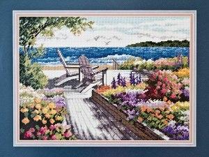 Cross stitch pattern FREE download in PDF file with lake landscape