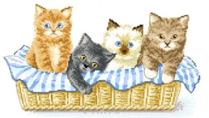 Cross stitch patterns FREE download in PDF file with kittens