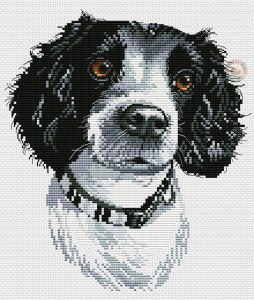Cross stitch pattern FREE download in PDF file with dog