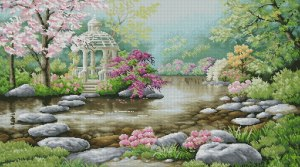 Cross stitch pattern FREE download in pdf to embroider flowery garden