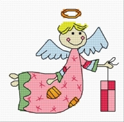 Cross stitch pattern FREE download in PDF file with little angel