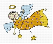 Cross stitch pattern FREE download in PDF file with Christmas angel