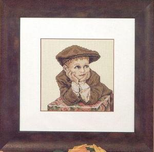 Cross stitch pattern with FREE download instantly in PDF file, to embroider a BOY