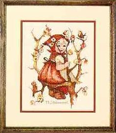 Cross Stitch Pattern FREE download instantly in PDF file, to embroider a peasant girl