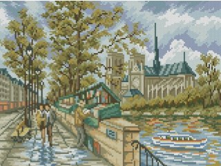 Cross stitch pattern to FREE download instantly in PDF file, with landscape
