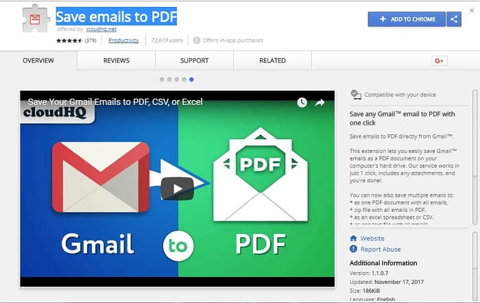 Download Save Emails to PDF 1.1.0.8 for Chrome Latest Free Version 2018